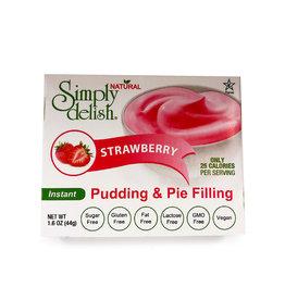 Simply Delish Simply Delish - Pudding, Strawberry (48g)