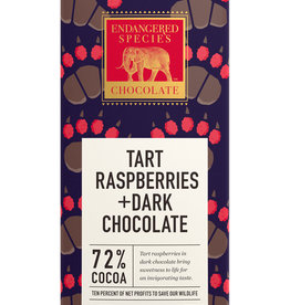 Endangered Species Endangered Species - Dark Chocolate Bar, Grizzly Red Raspberries