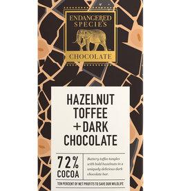 Endangered Species Endangered Species - Dark Chocolate Bar, Rhino with Hazelnut Toffee