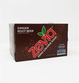 Zevia Soda Zevia - Soda, Ginger Root Beer (6pk)