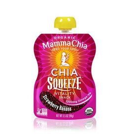 Mamma Chia Mamma Chia - Chia Squeeze, Strawberry Banana (99g)