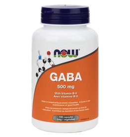 NOW Foods NOW Foods - Gaba 500mg + B-6 (100vcaps)