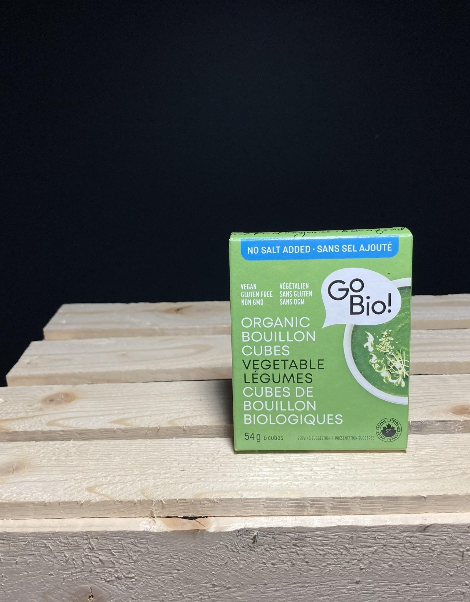 GoBio GoBio - Bouillon Cubes, No Salt Vegetable (54g)