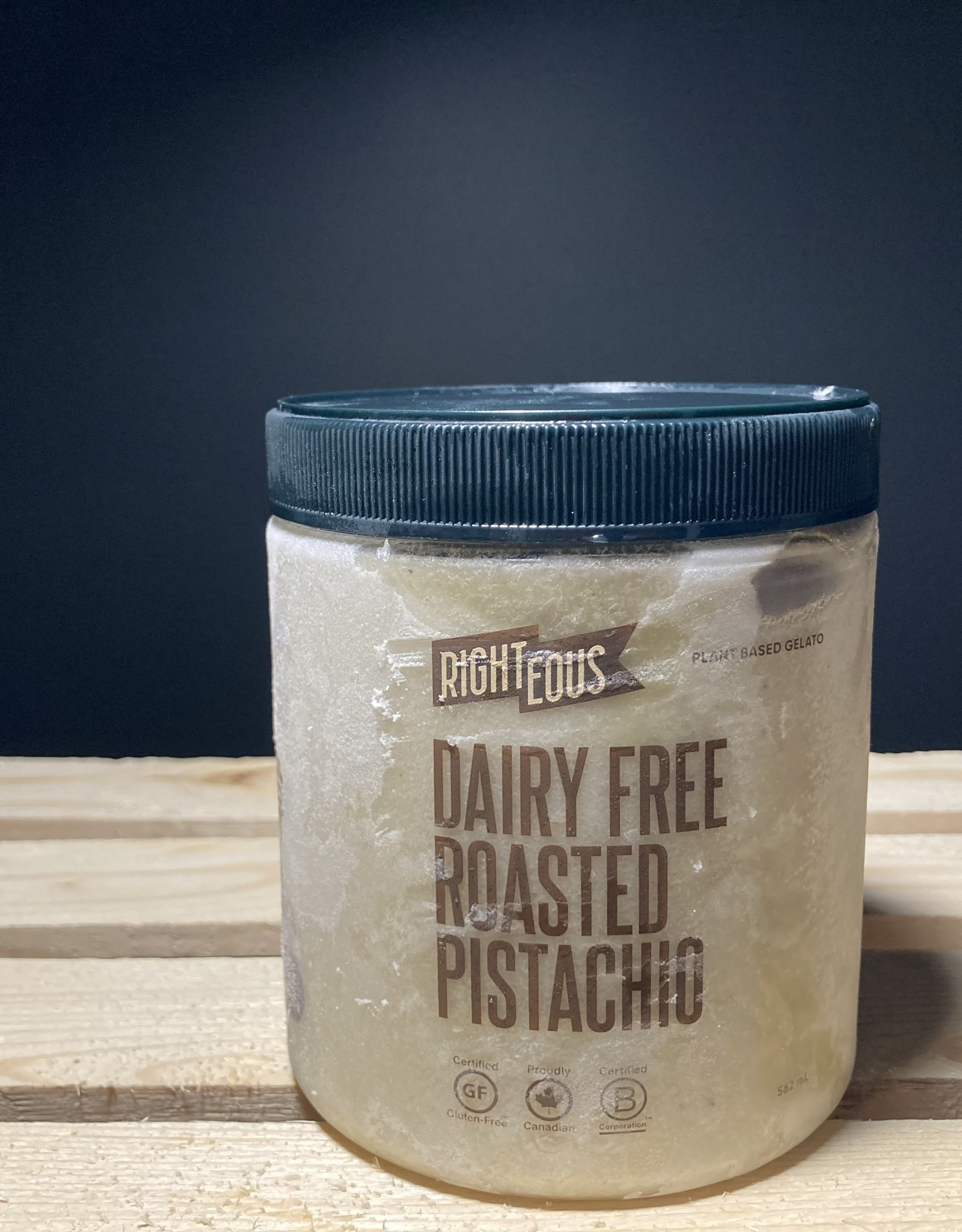 Righteous Righteous - Plant Based Gelato, Roasted Pistachio (562ml)