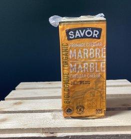 Savor Savor - Organic Cheese, Marble Cheddar (325g)