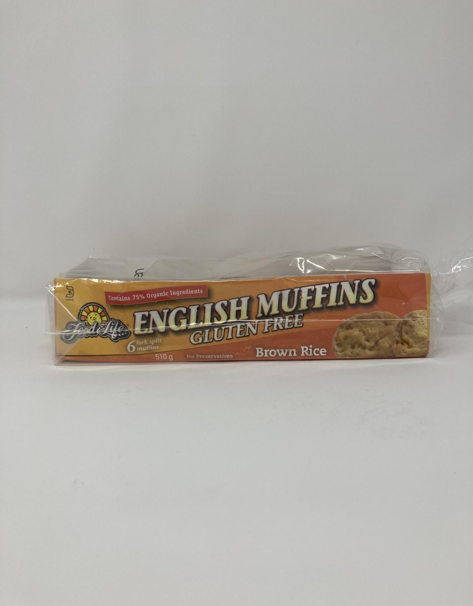 Food For Life FFL - GF English Muffins, Brown Rice