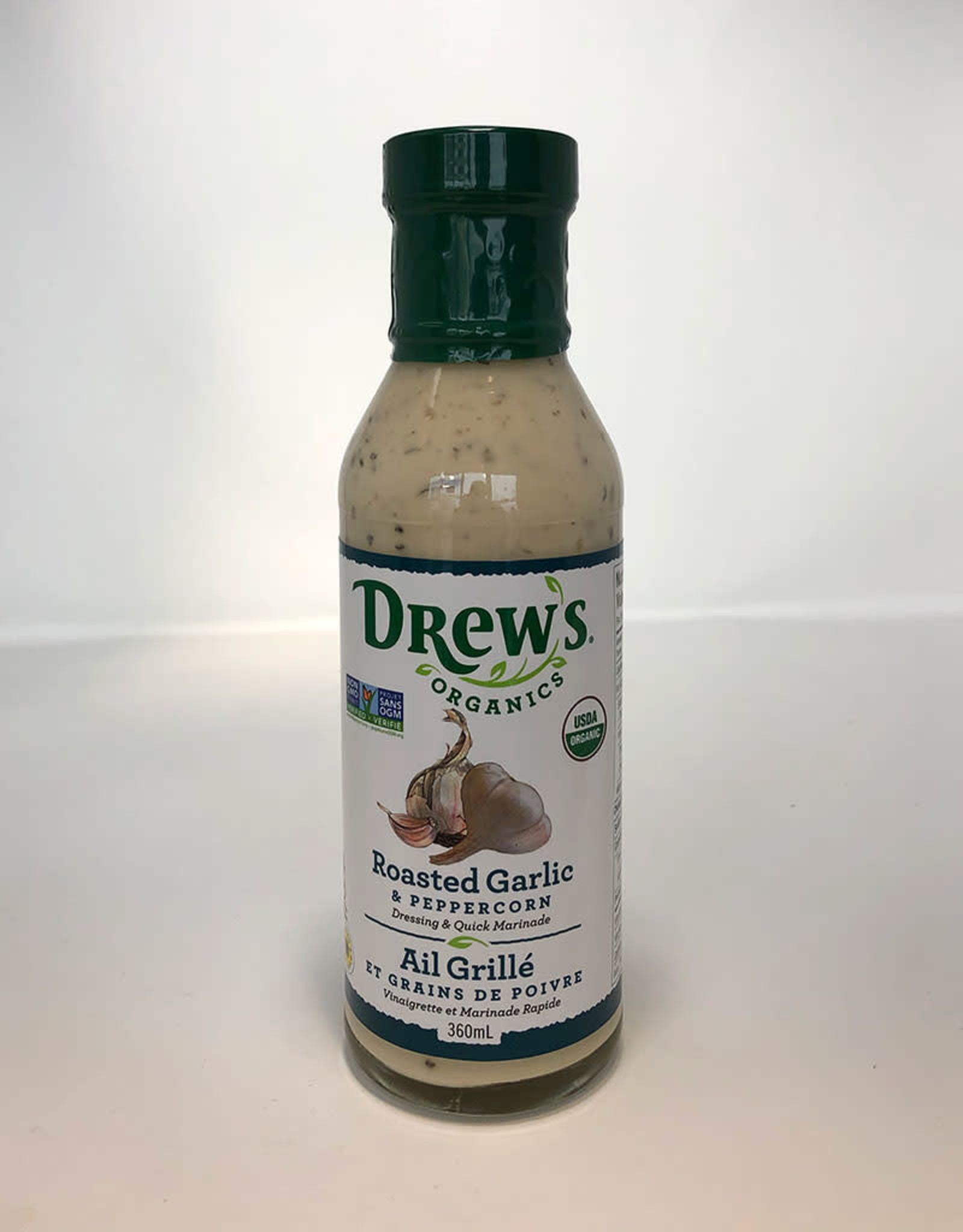 Drews Organics Drews - Organic Dressing, Roasted Garlic & Peppercorn