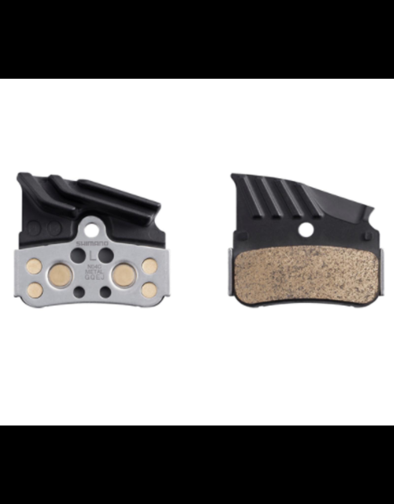 Shimano Plaquettes frein Shim N04C metal Ice (M9120, XT M8100, M7100) 4 pist