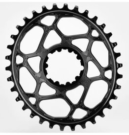 Absolute Black Chainring Absolute Black oval SRAM boost Shim 12s