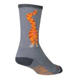 Sock Guy Sock Guy 6po Pucker cat grey S/M