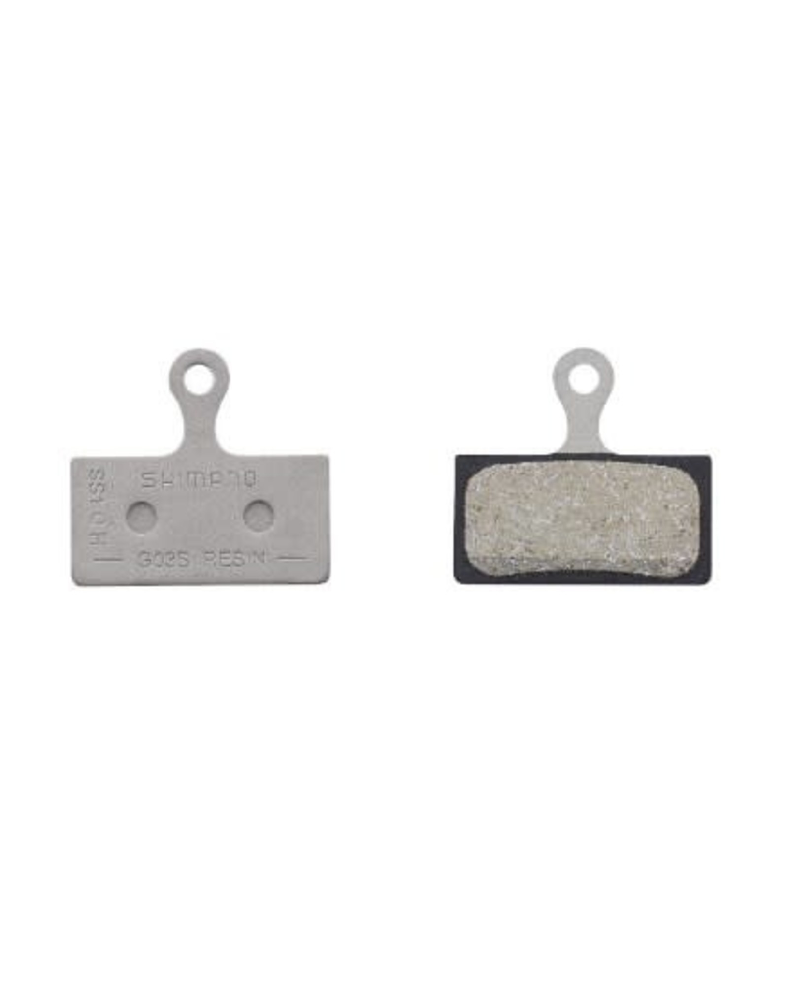 Shimano Plaquettes frein Shim G03S resin/acier (Deore,XT,SLX,Alfine) vrac 2 pist