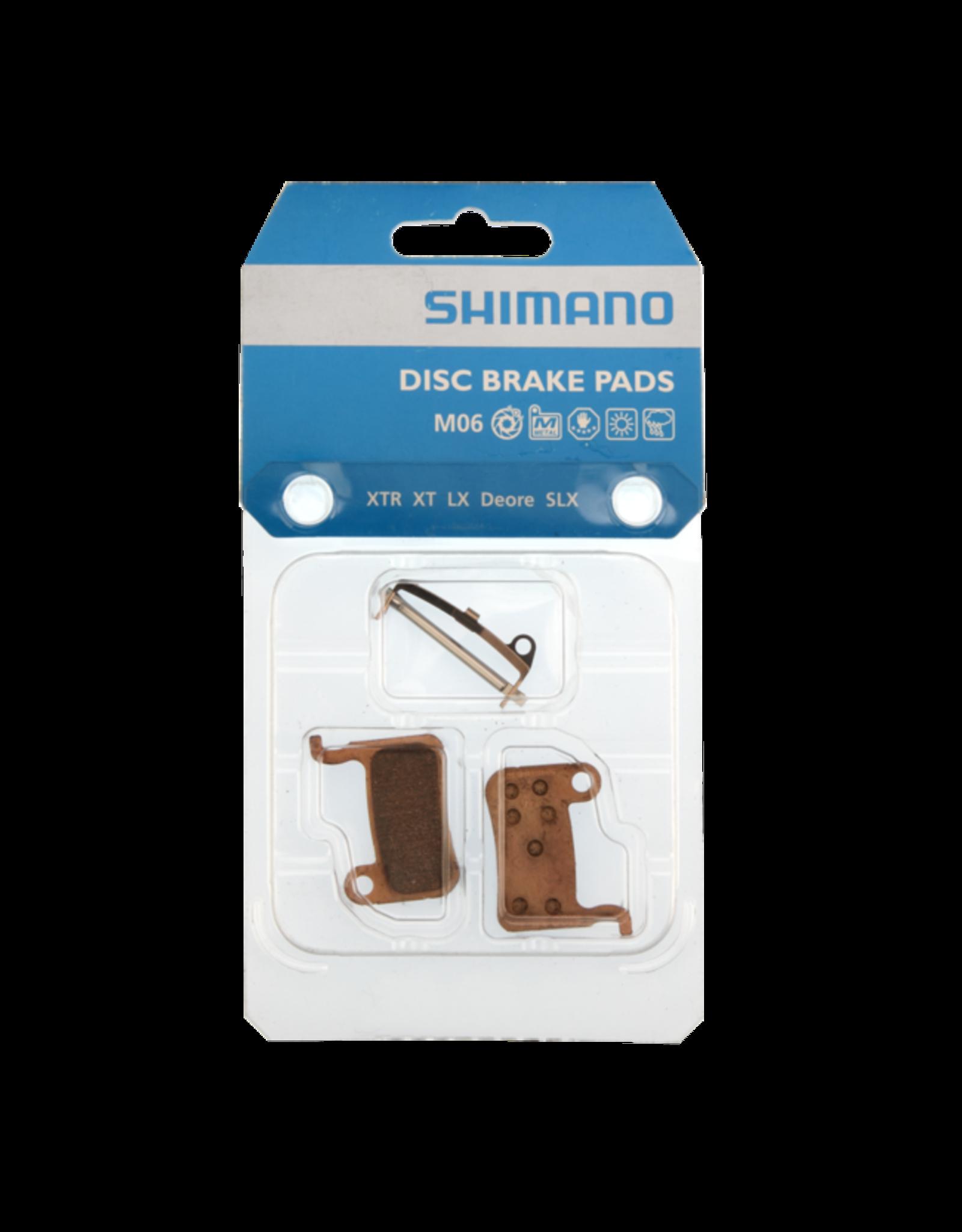 Shimano Plaquettes frein Shim M06 metal (XTR, XT, LX, Deore, SLX)