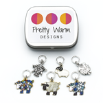Pretty Warm Designs Stitch Markers by Pretty Warm Designs