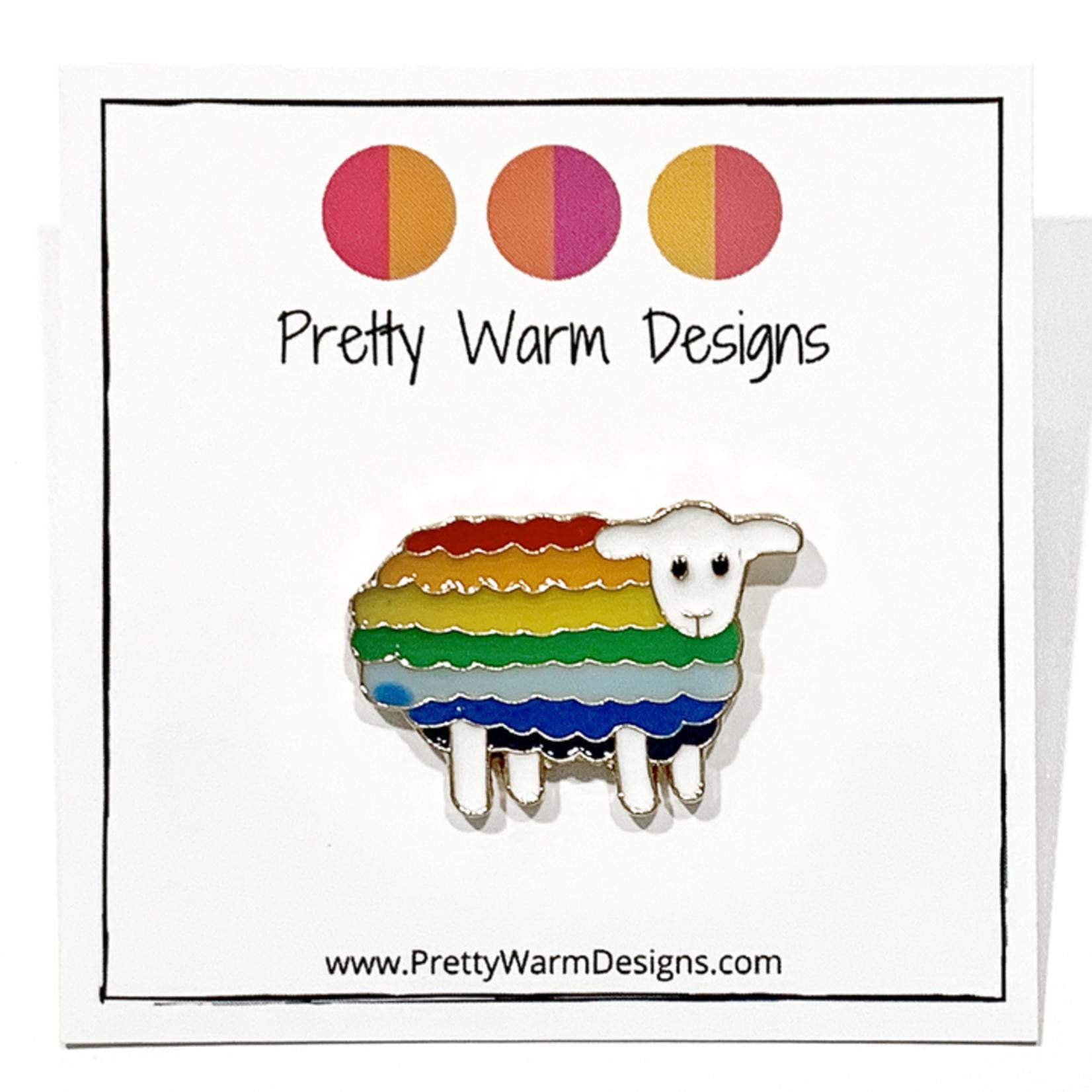 Pretty Warm Designs Knitting and Crochet Enamel Pins by Pretty Warm Designs