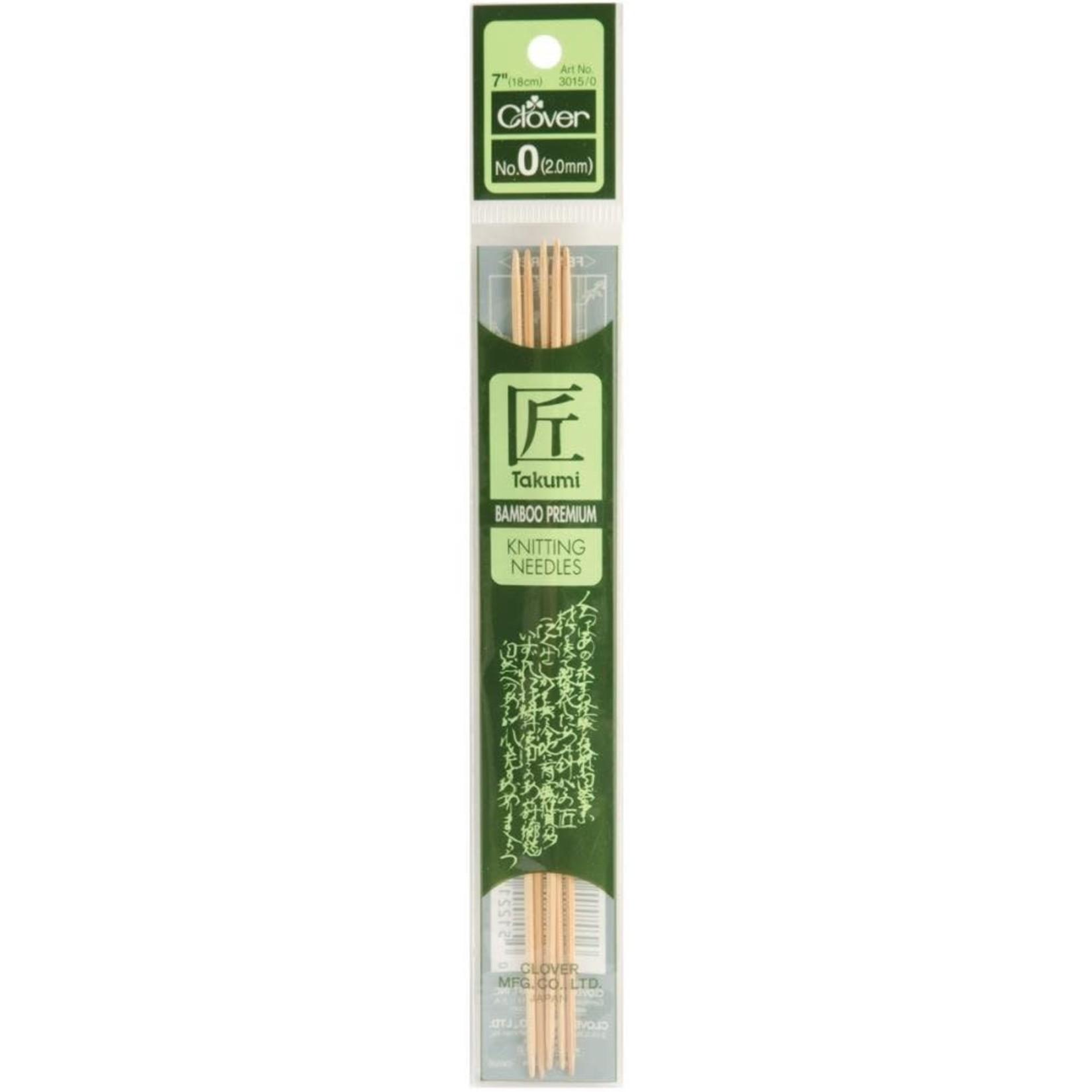 "Takumi Takumi Bamboo Double Point 18cm (7"") Knitting Needles"
