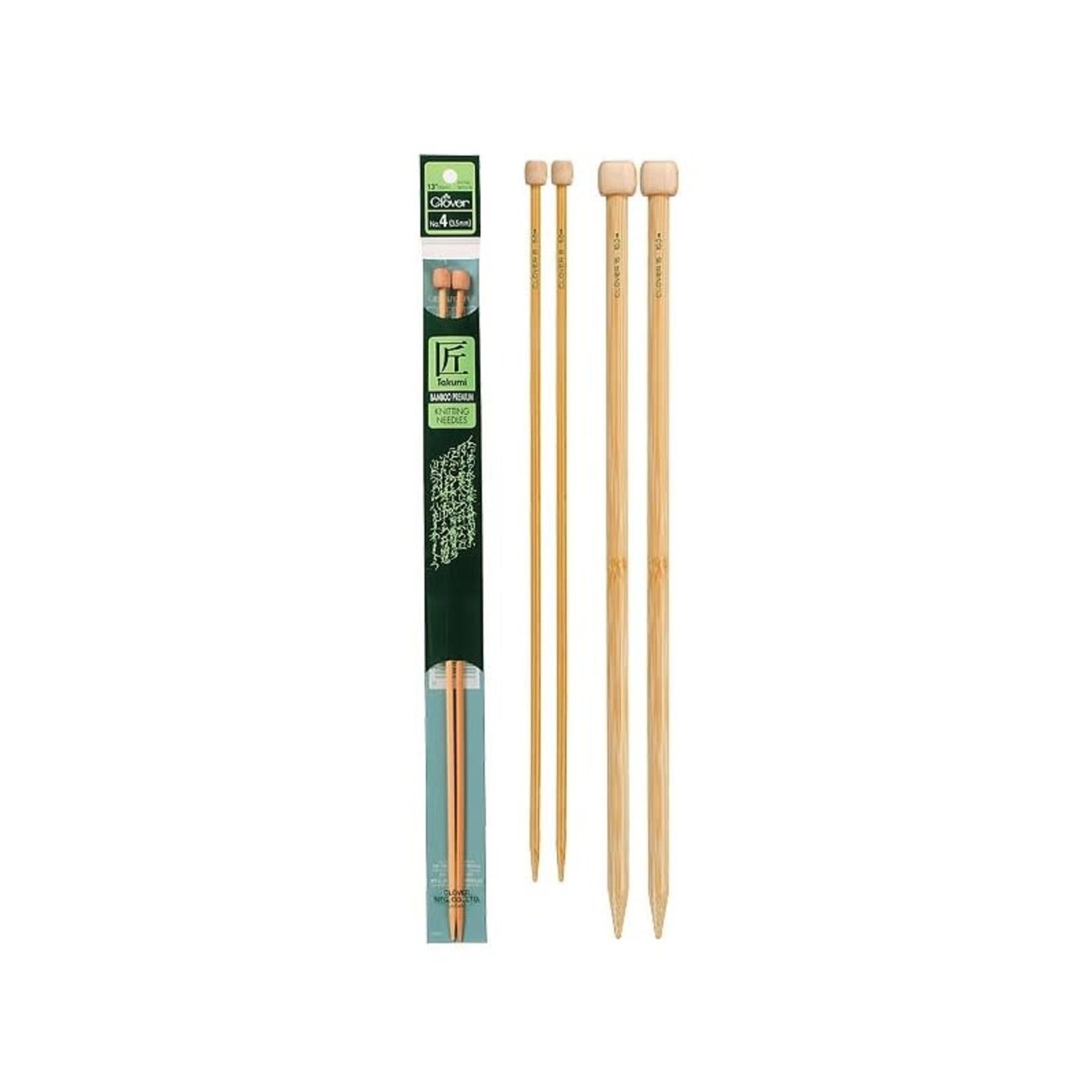 """Takumi Takumi Bamboo Single Point 33cm (13"""") Knitting Needles by Clover"""