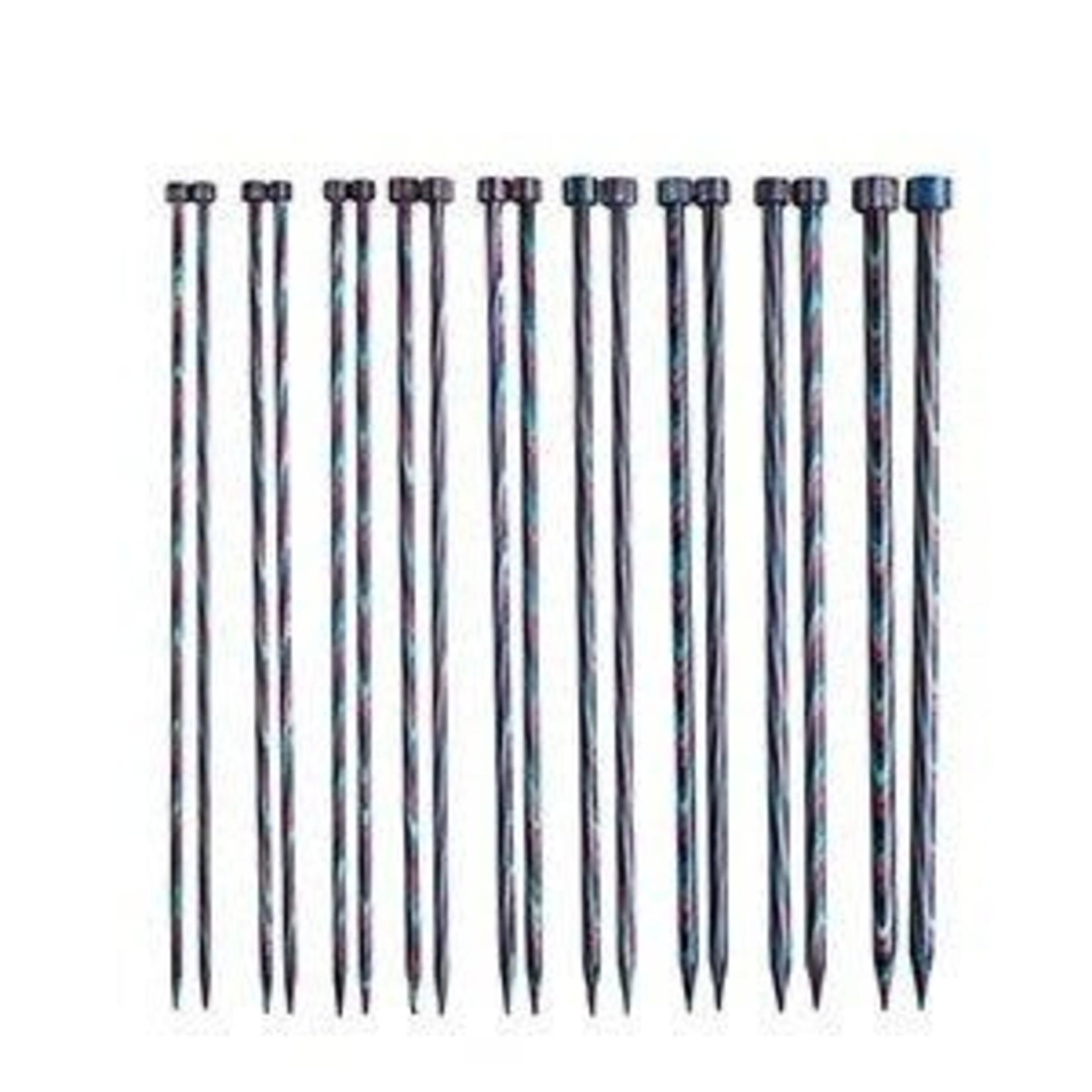"Knit Picks KNIT PICKS Rainbow Wood Single Point Knitting Needles 25cm (10"")"