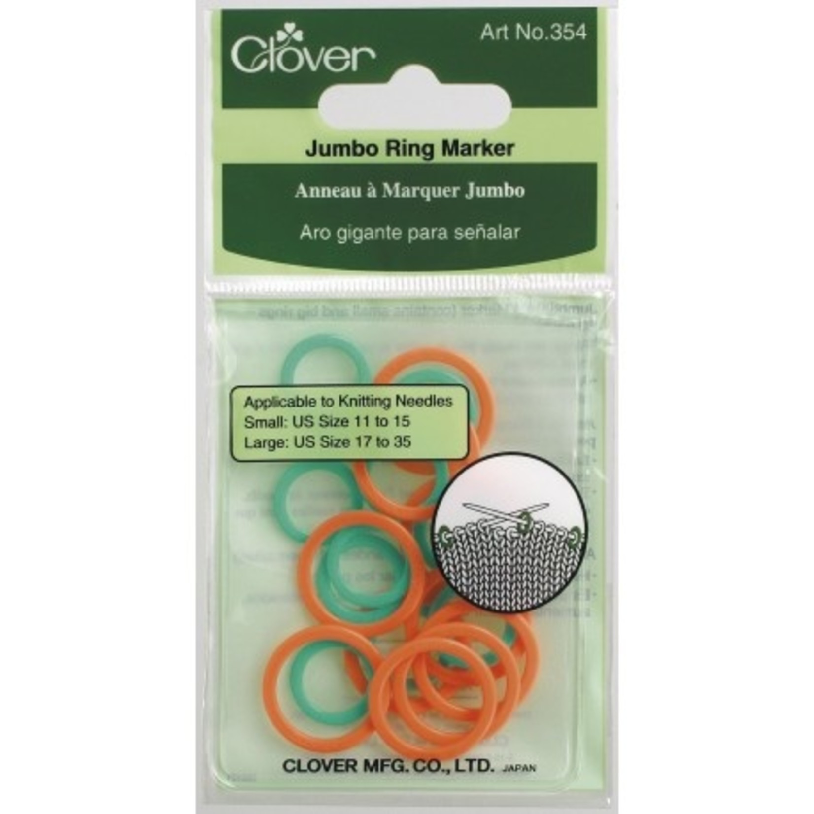 Clover Clover Jumbo Stitch Ring Markers 354
