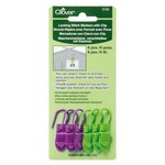 Clover Locking Stitch Markers With Clip Clover 3165