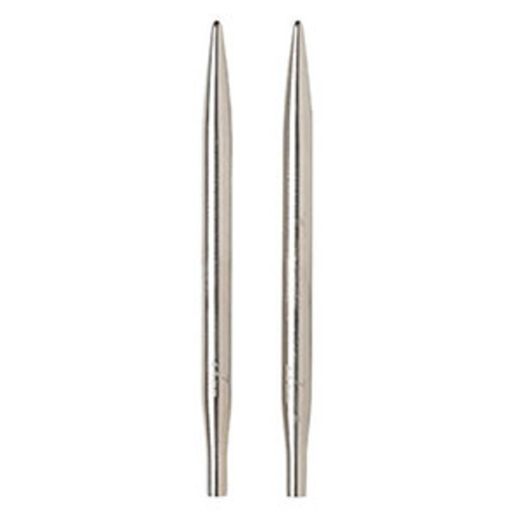 "Knit Picks KNIT PICKS Nickel Plated Interchangeable Circular Needle Tips 12cm (5"")"