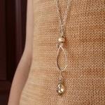Wool & Wire Teardrop Stitch Marker Necklace on silver - NNK Press