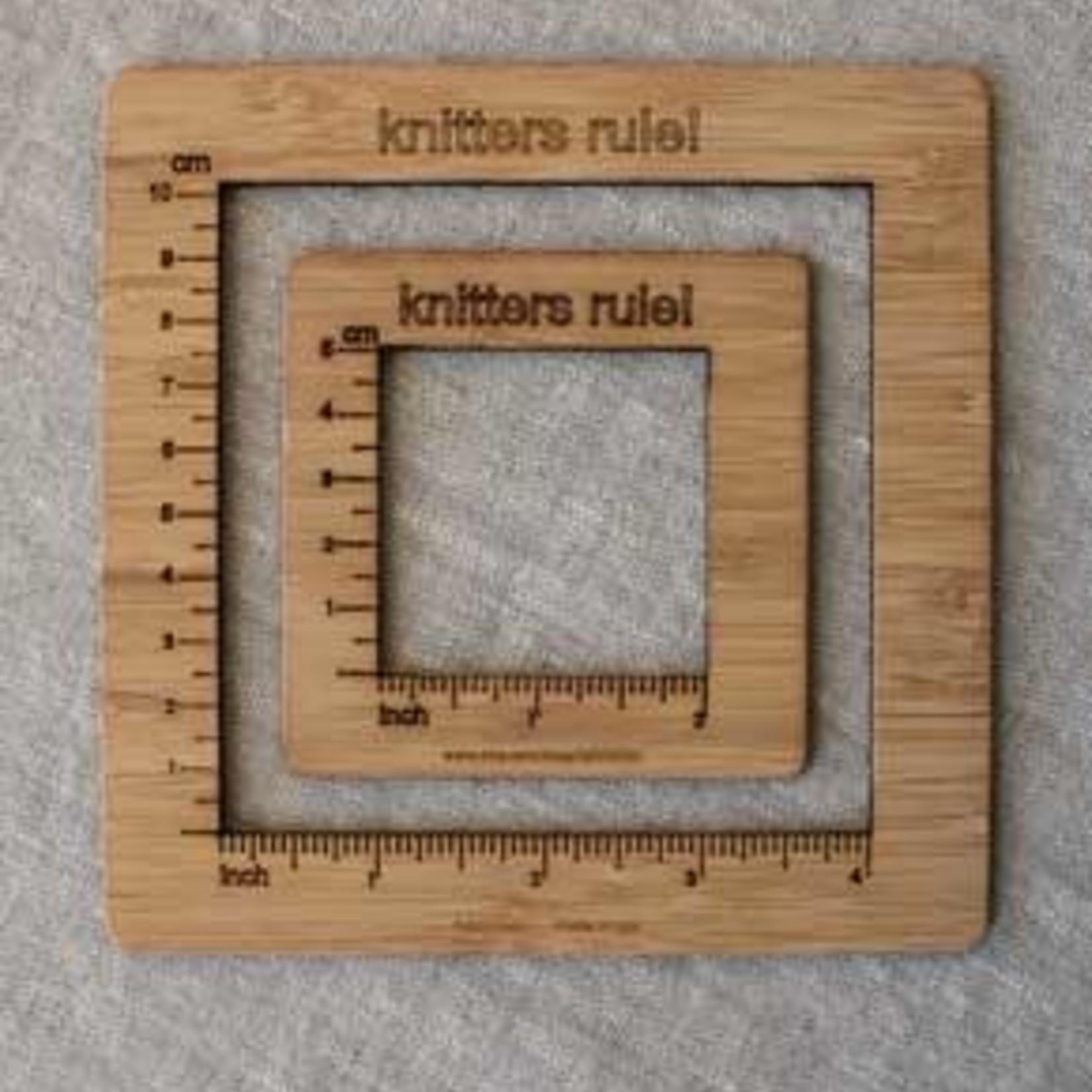 """Katrinkles Gauge Swatch Measure 4"""" by Katrinkles"""