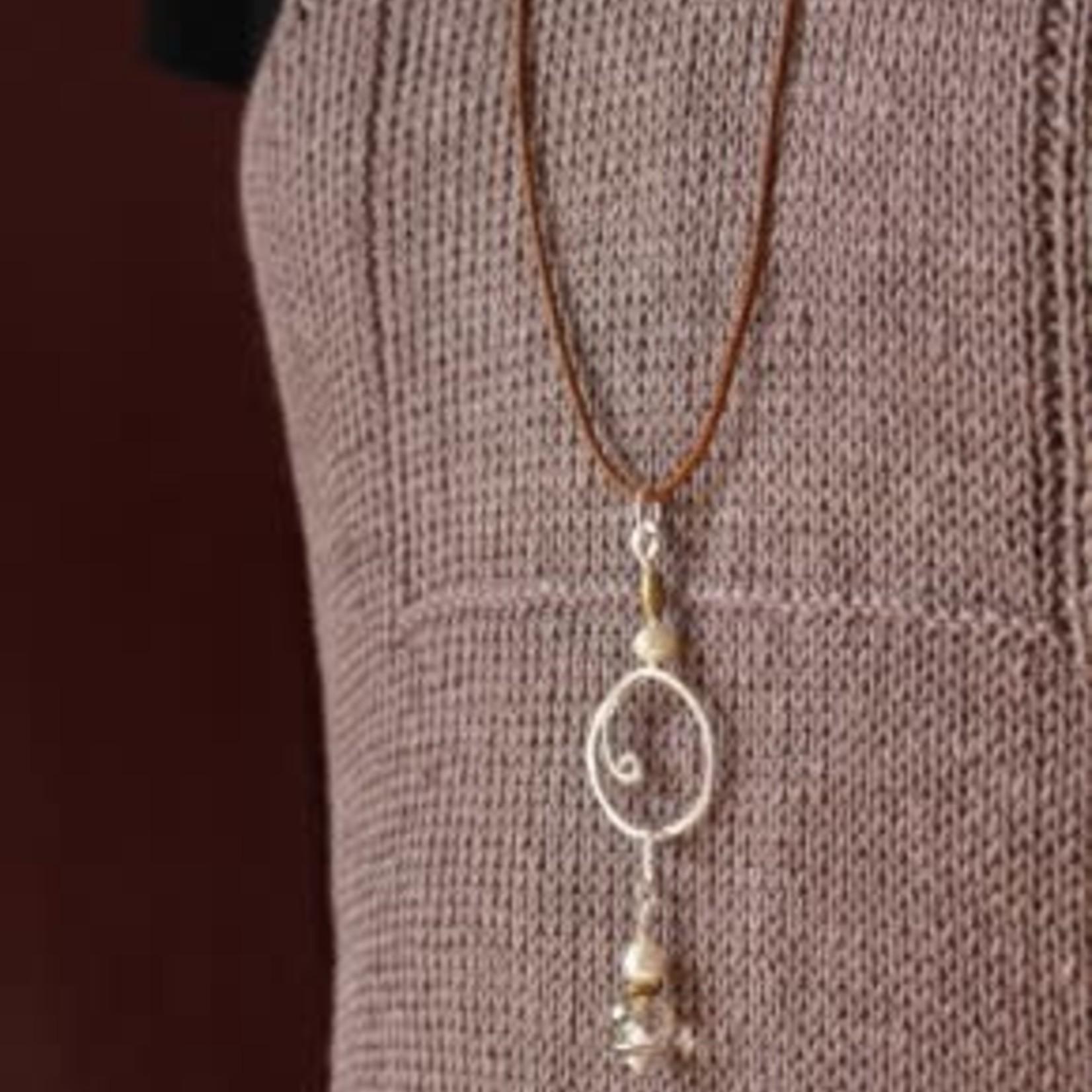 Wool & Wire Stitch Marker Necklace (Linen) by Wool & Wire