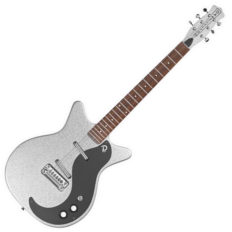 Danelectro Danelectro - D59M NOS+ Metalflake Silver Sparkle