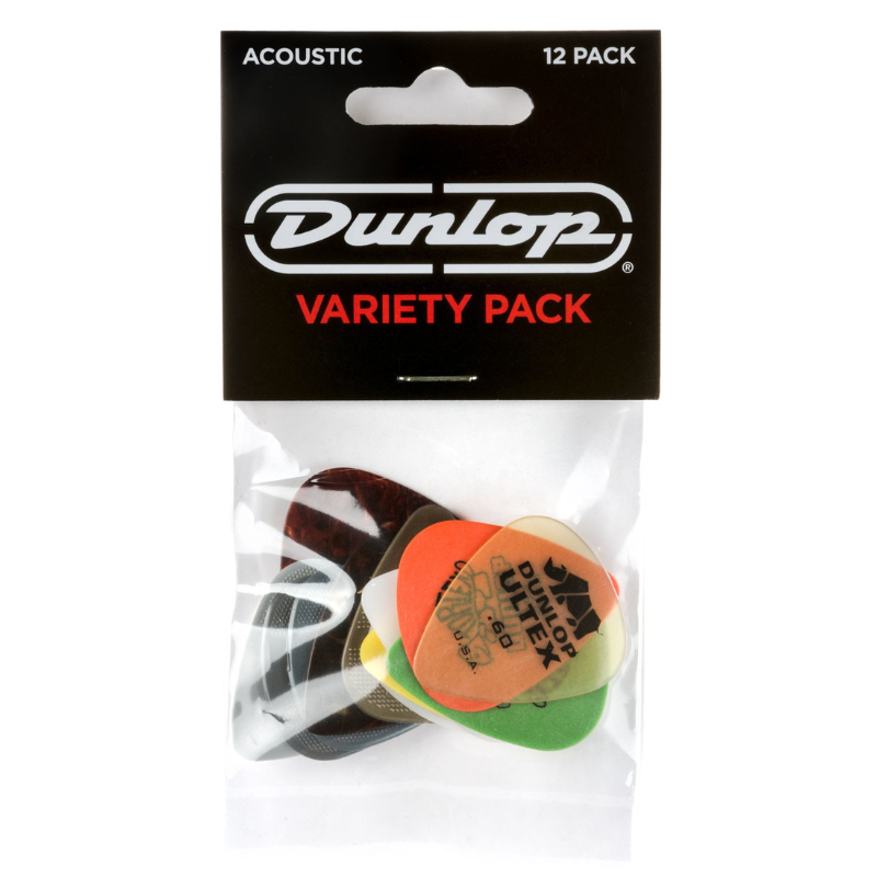 Dunlop Dunlop PVP112 Acoustic Variety Picks (Pack of 12)
