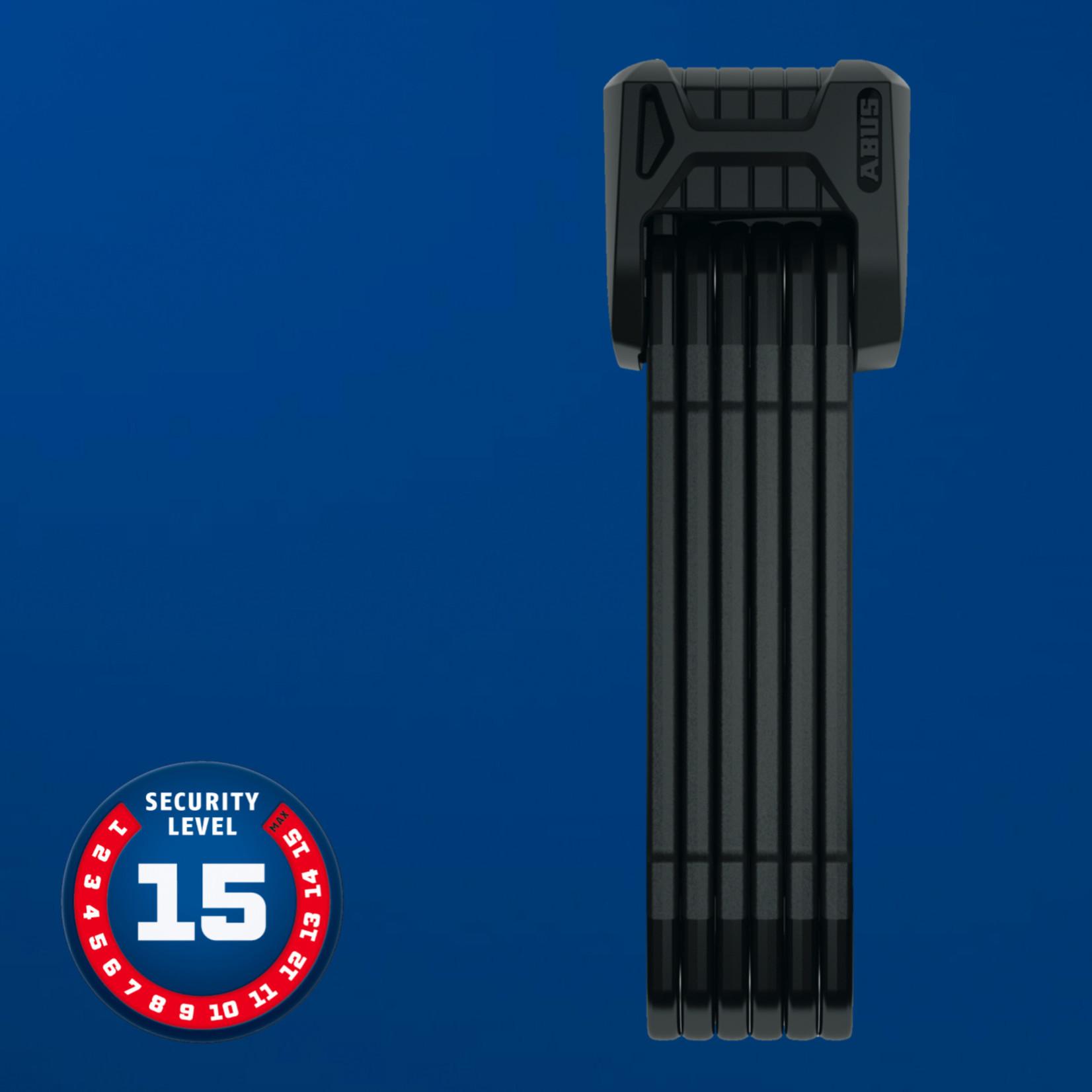 Abus Bordo Granit XPlus 6500 Folding Lock, Key - SH, 85cm, 2.8', 5.5mm, Black