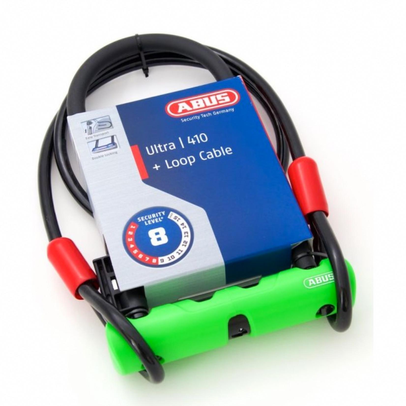 Abus Ultra 410 U-Lock (17x23cm) + Cobra Cable (120cm)