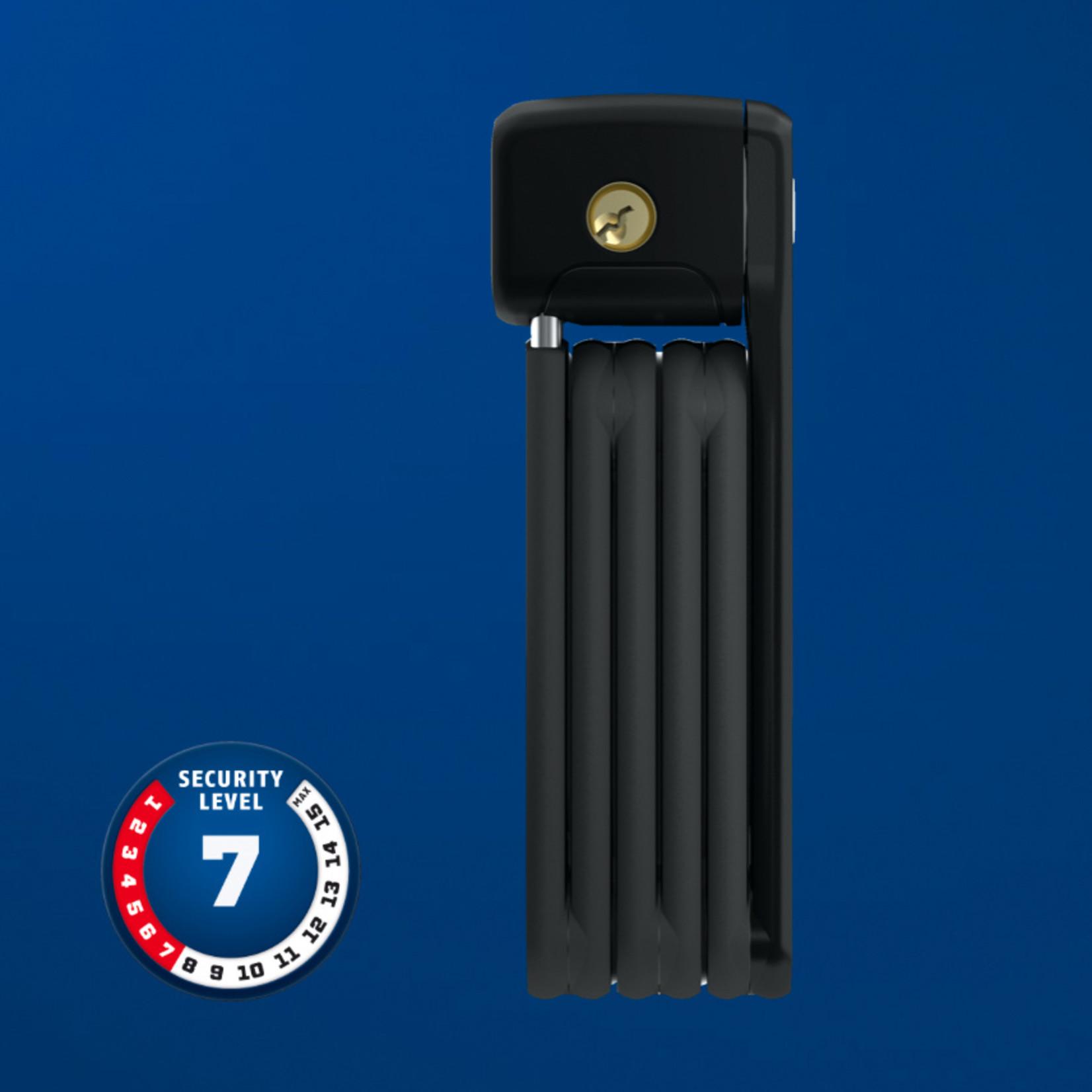 Abus Bordo Ugrip Lite Mini 6055 Foldable lock w/ key, Black