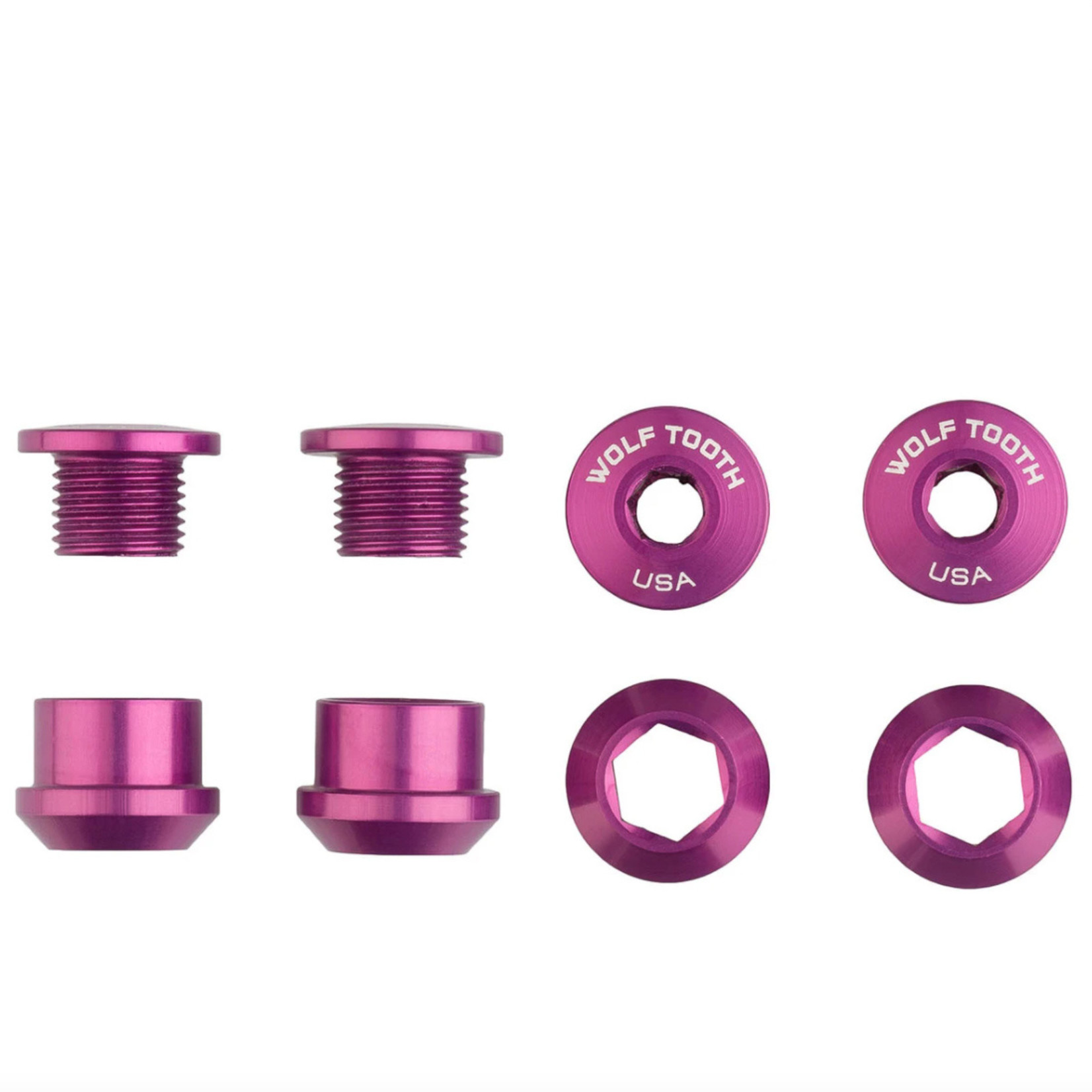 Wolf Tooth Components Wolf Tooth Anodized 1x Chainring Bolts - Set of 4