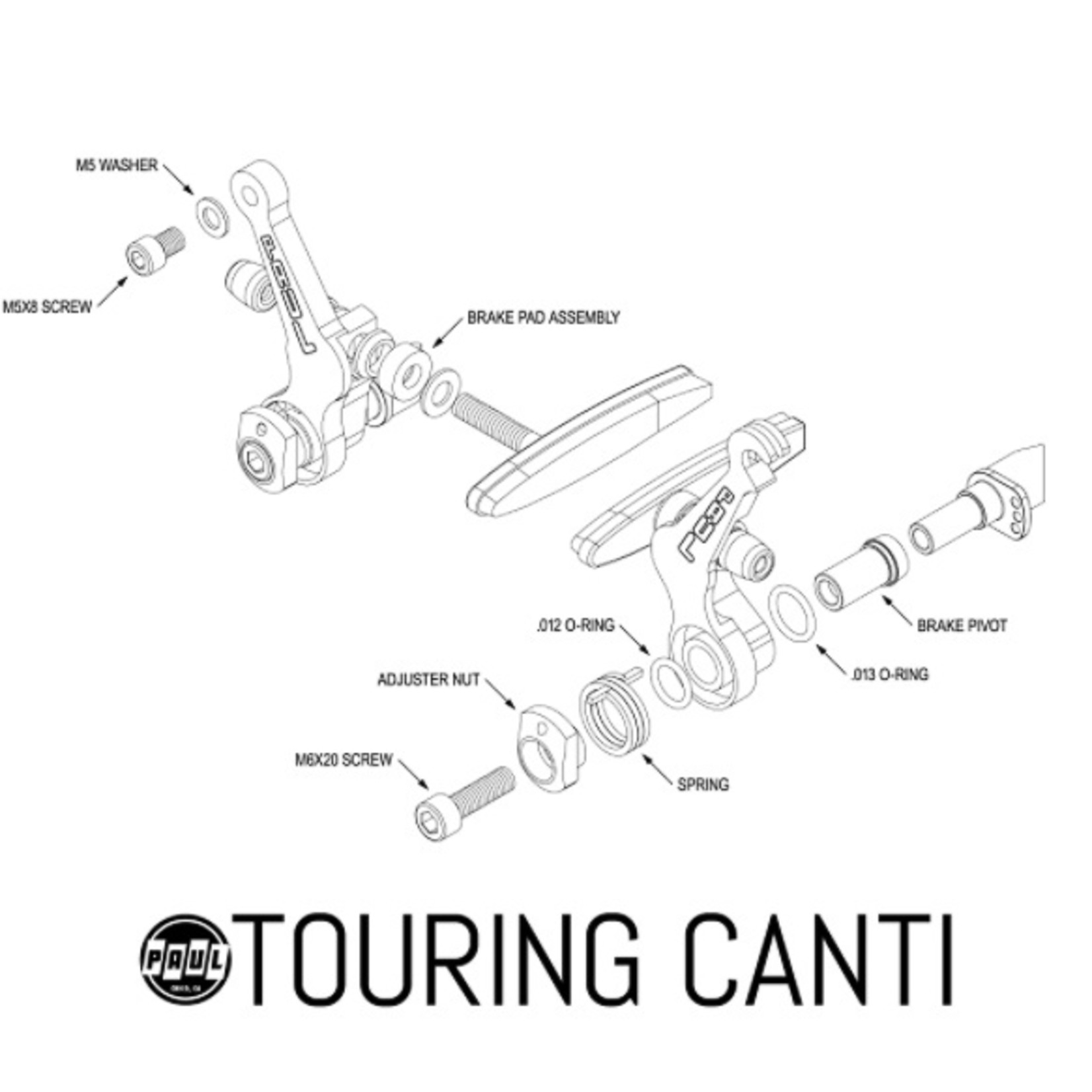 Paul Component Engineering Paul Comp. Touring Canti Brake