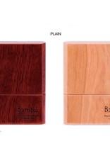 Bambu Bambu hand-made wooden reed case, plain wood finish.