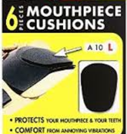 BG BG Teeth And Mouthpiece Saver Patch 6pk, Black .8mm, large A10L
