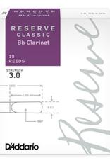D'Addario Daddario Reserve Classic Clarinet Reeds Box of 10 3.5+