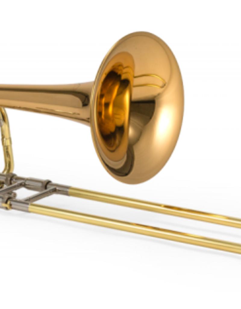 XO Jupiter XO Twin Axial Flow Bass Trombone, rose brass bell with axial flow valves.