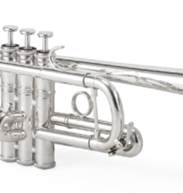 XO XO 1624 Large Bore C Trumpet Silver-Plate