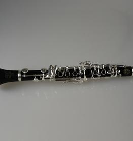 Amati AMATI Eb Clarinet, boehm system standard model, 17 keys, 6 rings, bore 13mm (.512''), all Grenadilla wood, 2 barrels, adjustable thumb rest with ring for neck strap, silver-plated keywork.