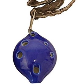 Ceramic Ocarina large with string