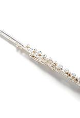 Pearl Pearl Quantz 765 B Foot Sterling Silver Flute  Open Hole  Split E Mechanism Offset G