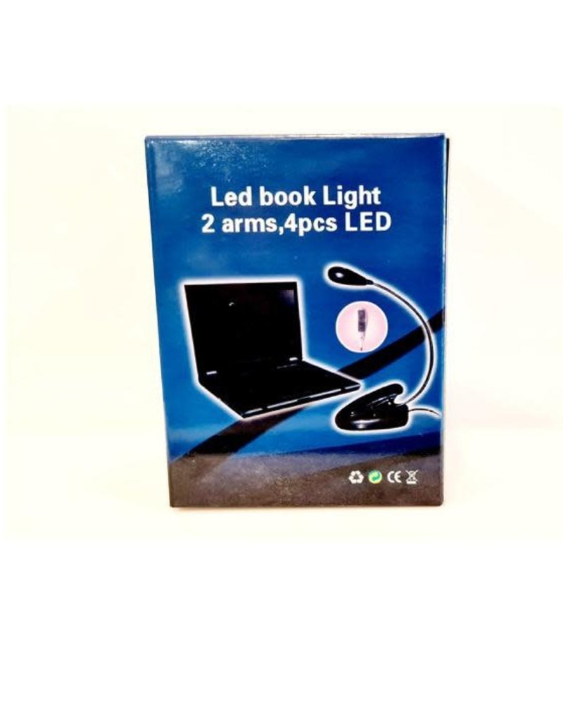 Dual LED Flexible Music Stand light. 4 leds allow for 4 different light levels