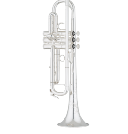 S.E. Shires Shires Q Series Professional Bb Trumpet Reverse Leadpipe Silver Plated  TRSQ10RS
