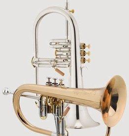 XO XO JT1646S Flugelhorn Silver plated w/ Rose Brass Bell
