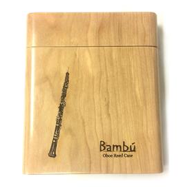 Bambu Bambu Wooden Reed Case for Oboe, Plain Finish