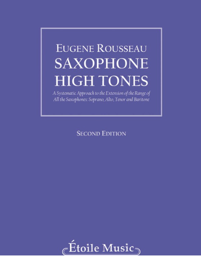 Hal Leonard Saxophone High Tones  Eugene Rousseau