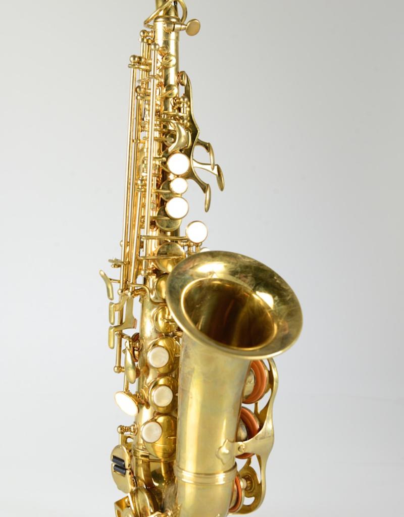 Temby Australia Temby Curved Soprano Saxophone Vintage Raw Brass