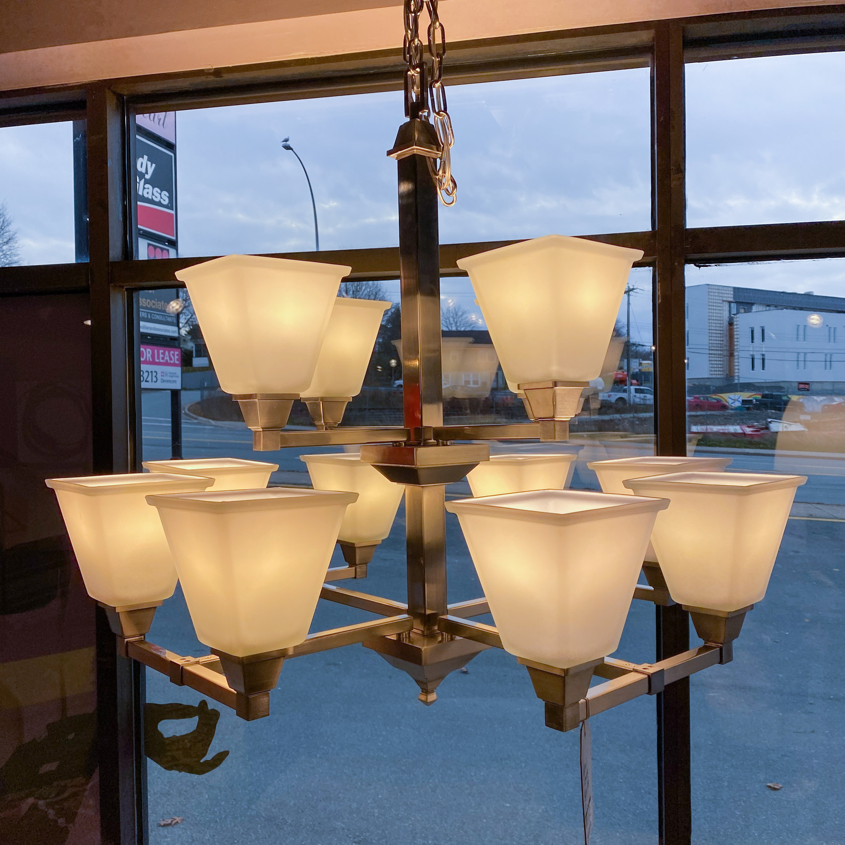 Seagull Lighting Denhelm 12-Light Multi-Tiered Chandelier - FINAL SALE
