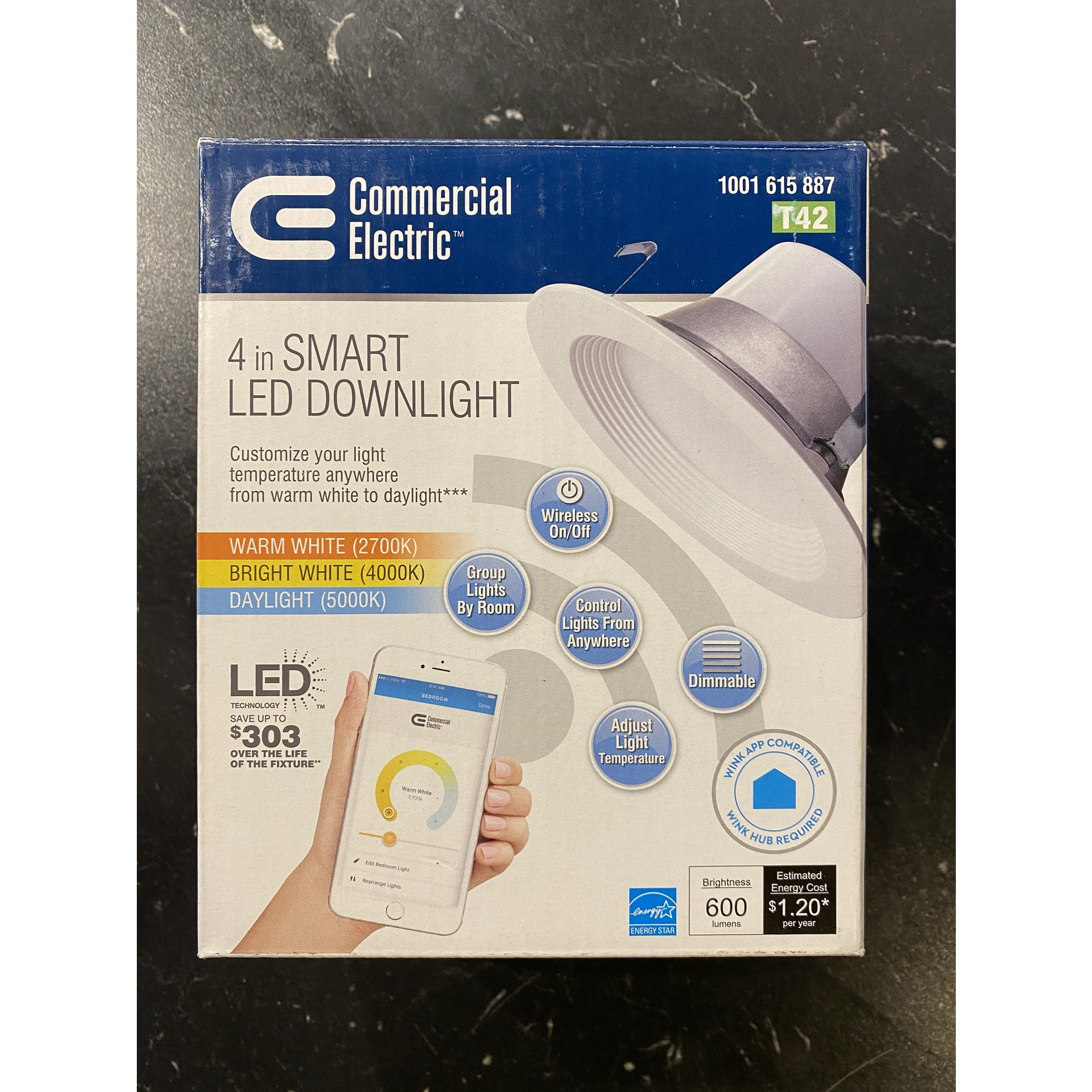 Commercial Electric 4 in Smart LED Downlight - FINAL SALE